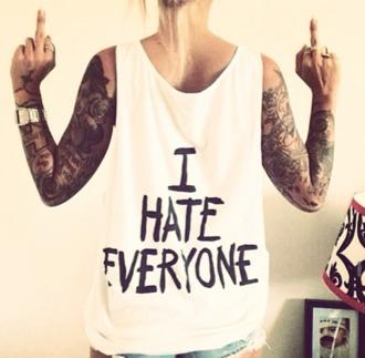 shirt hate i hate everyone