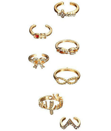 7 Gem Ring Set | Outfit Made
