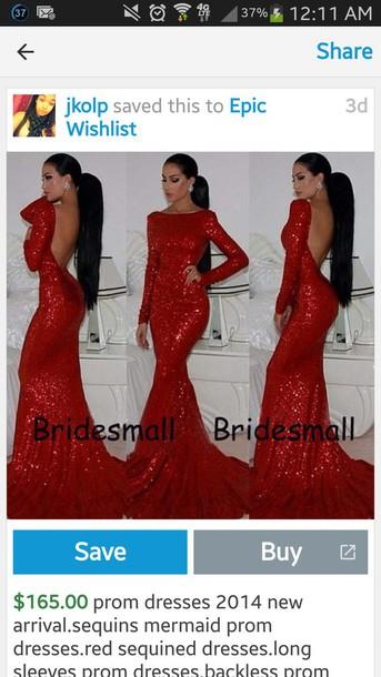 dress red sequin dress mermaid prom dress long prom dress red prom dress