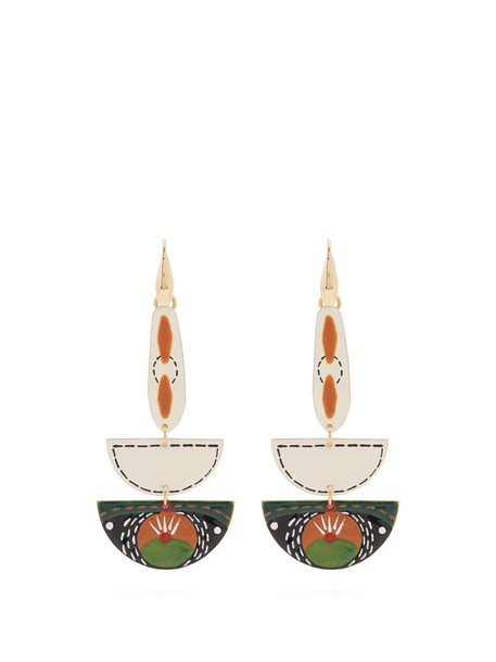 Isabel Marant earrings green jewels