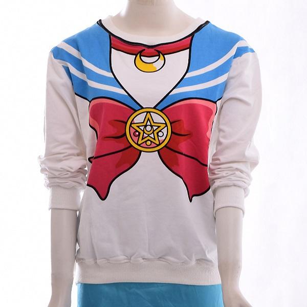 nuevo harajuku de sailor moon camisa de manga larga cuello seaman bowknot patrón falsos de la campana de en de en Aliexpress.com