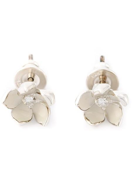 SHAUN LEANE cherry women earrings silver white jewels