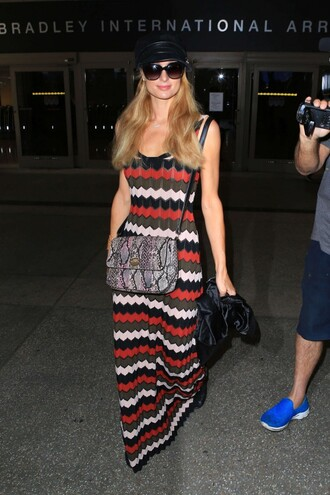maxi dress paris hilton spring dress colorful stripes striped dress spring outfits sleeveless dress