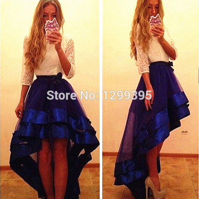Front Long Back Short Prom Dress Party Dress Homecoming Dress ...