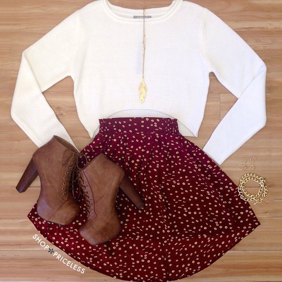 leaf boots burgundy necklace thanksgiving fall outfits fall outfits lace up