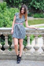 zina,leopard print,blue dress,dress