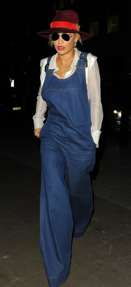 jeans denim overalls rita ora fall outfits