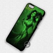 phone cover,mermaid,painting,green,iphone,iphone case,iphone 4 case,iphone 4s,iphone 5c,iphone 5 case,iphone 5s,iphone 6 case,iphone 6 plus,iphone 6s case,iphone 6s plus cases,iphone 7 plus case,iphone 7 case,iphone se case