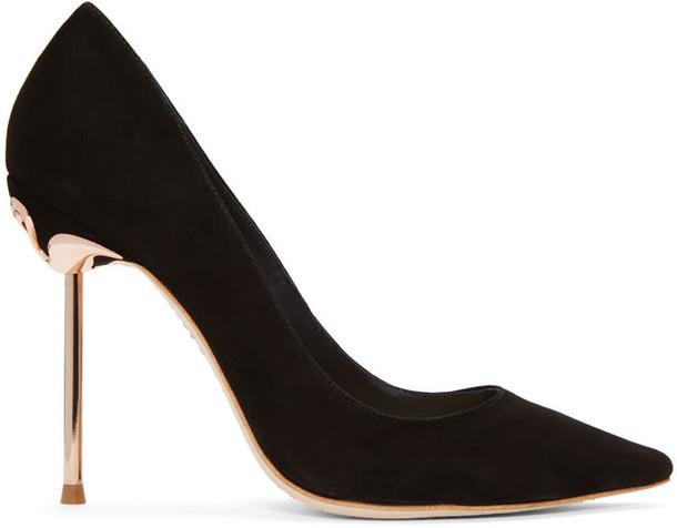 Sophia Webster flamingo heels suede black shoes