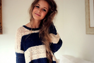 sweater striped sweater knitwear brunette