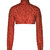 Bordeaux Chiffon Turtleneck With Swarovski Embroidery by Prabal Gurung - Moda Operandi