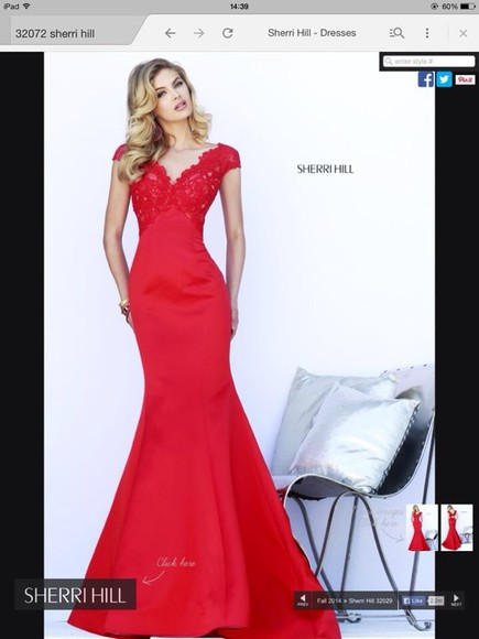 gown long sherri hill sherrihill 2014 prom gown low back detailed neckline
