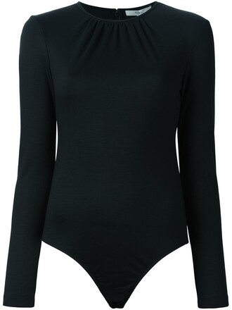 bodysuit long sleeve bodysuit long women black wool underwear