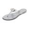 Salvatore ferragamo farelia thong sandals - glitter silver