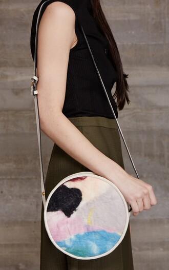 bag rachel comey pastel bag fur furry pouch shoulder bag spring accessory