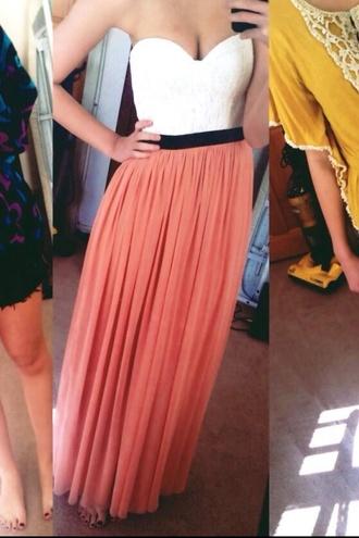 dress coral maxi dress lace