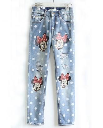 jeans disney clothes disney princess disney minnie mouse boyfriend jeans disney punk