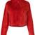 Liska - Tweety zip up fur coat - women - Leather/Mink Fur/Viscose - One Size, Red, Leather/Mink Fur/Viscose