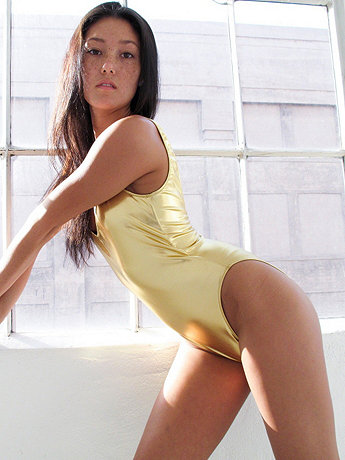Shiny Malibu Swimsuit | American Apparel
