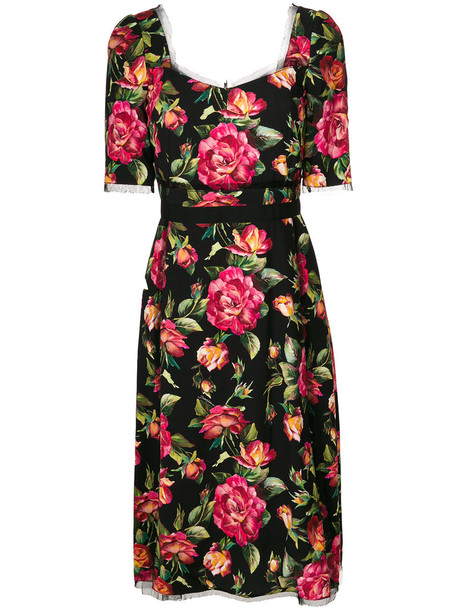 Dolce & Gabbana dress print dress women floral cotton print black