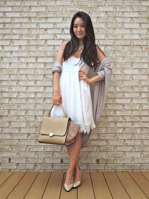 sensible stylista shoes jewels cardigan bag