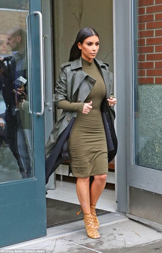 coat kim kardashian dress dress jeans