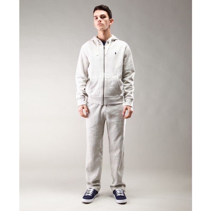 Polo Ralph Lauren Men's Fleece hooded tracksuit Top and Bottom Grey RRP £180 | eBay