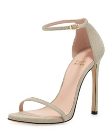 Nudist Ankle-Strap Sandal, Fawn