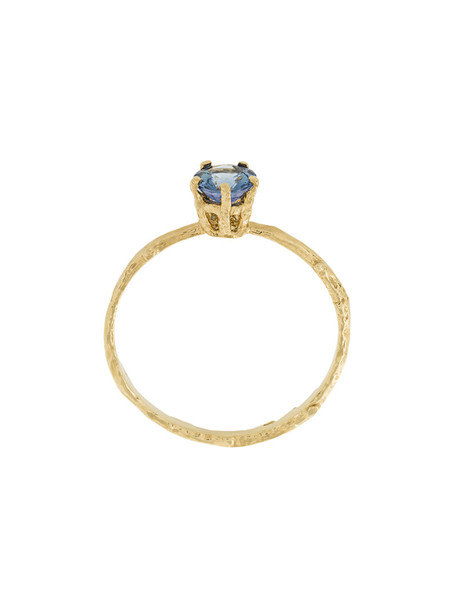 Alex Monroe women pale ring gold blue yellow grey metallic jewels