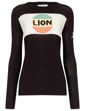 jumper lion cotton black