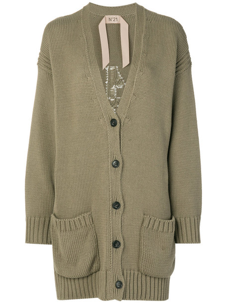 No21 cardigan cardigan long women cotton green sweater
