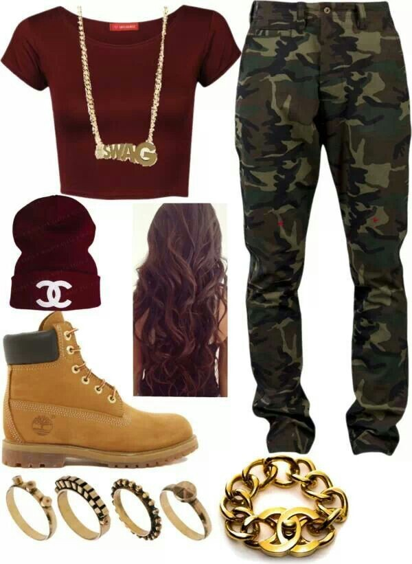 jeans camo pants timberlands gold camouflage hat shirt jewels shoes pants red crop top beanie swag t-shirt burgundy thug life thug life boots workout crop tops long hair rings and tings bracelets blouse dope dope top
