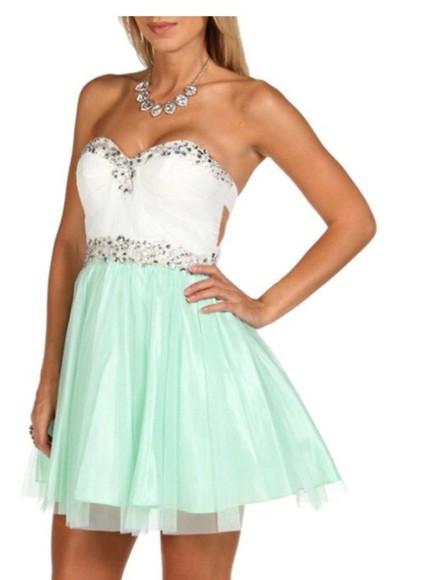 homecoming dress short dress aqua green mint sparkles