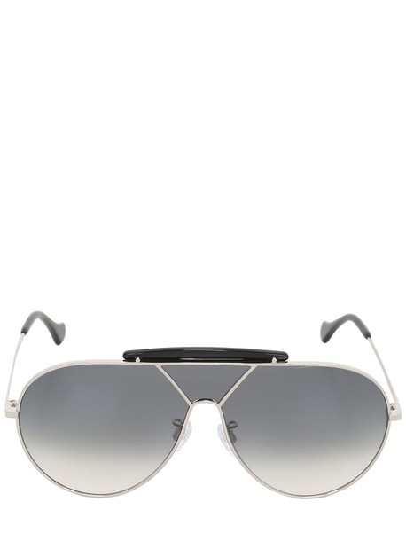 Balenciaga oversized sunglasses aviator sunglasses silver black