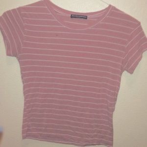05602bf051 35% off Brandy Melville Tops - Brandy Melville Pink and white striped T- shirt from Anna's ...
