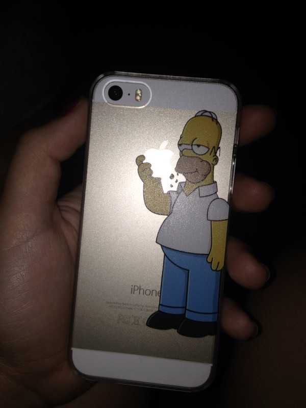socks homer simpson phone cover iphone 5 case cool transparent apple