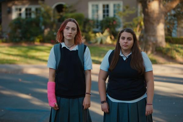 sweater movie lady bird saoirse ronan vest black vest school uniform school girl celebrity