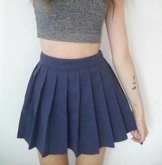 skirt blue skirt grunge tennis