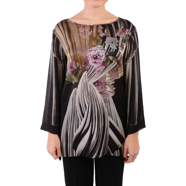 Alberta Ferretti blouse silk multicolor top