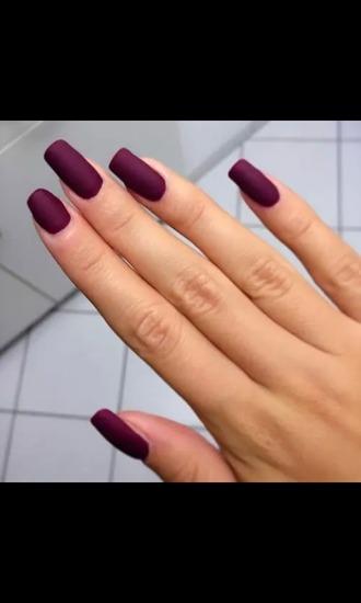 nail polish purple red beauty nails