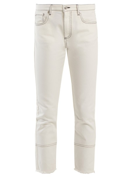 MSGM jeans cropped jeans cropped high white