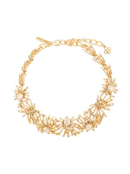 women necklace yellow orange jewels