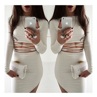 dress white dress cute dress two-piece high low dress high-low dresses summer dress outfit tumblr outfit