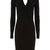 Black V Neck Long Sleeve Slim Bodycon Dress - Sheinside.com