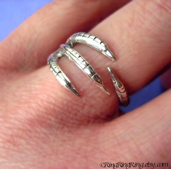 Talon ring jewelry 925 adjustable solid sterling par ringringring