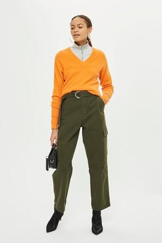 high waisted high khaki pants
