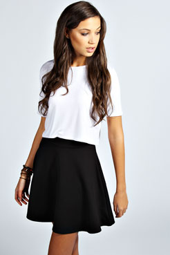 Roseanna Colour Pop Skater Skirt at boohoo.com