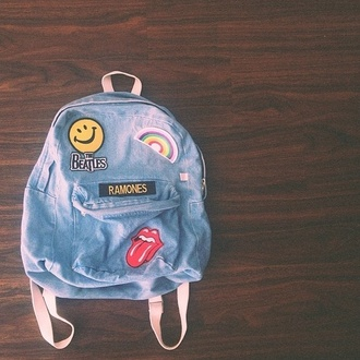 bag denim backpack acacia brinley