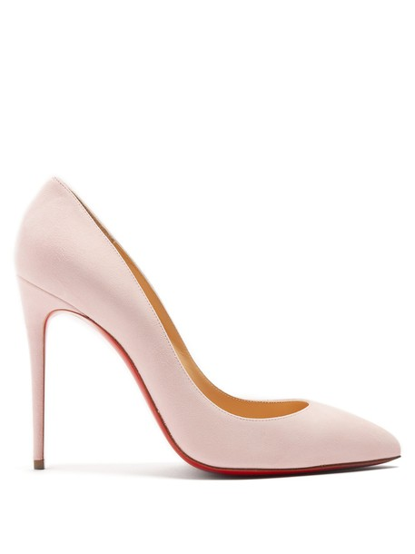 CHRISTIAN LOUBOUTIN Pigalle Follies 100mm suede pumps in pink