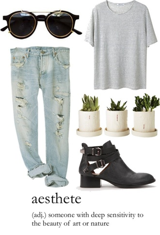 jeans hipster blue boyfriend jeans ripped jeans light wash shirt shoes